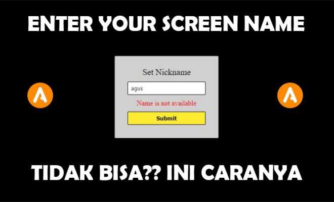 Enter Your Screen Name Pkv Games Tidak Bisa